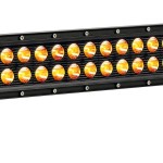 "LED C20; 20"" Amber w/ Harness Combo 120w (ea)"