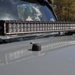 Jeep JK; Hood Mount C30 LED Bar & Brkt Kit 07-14
