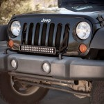 Jeep JK; Grill Mount C20 LED Bar & Brkt Kit 07-14